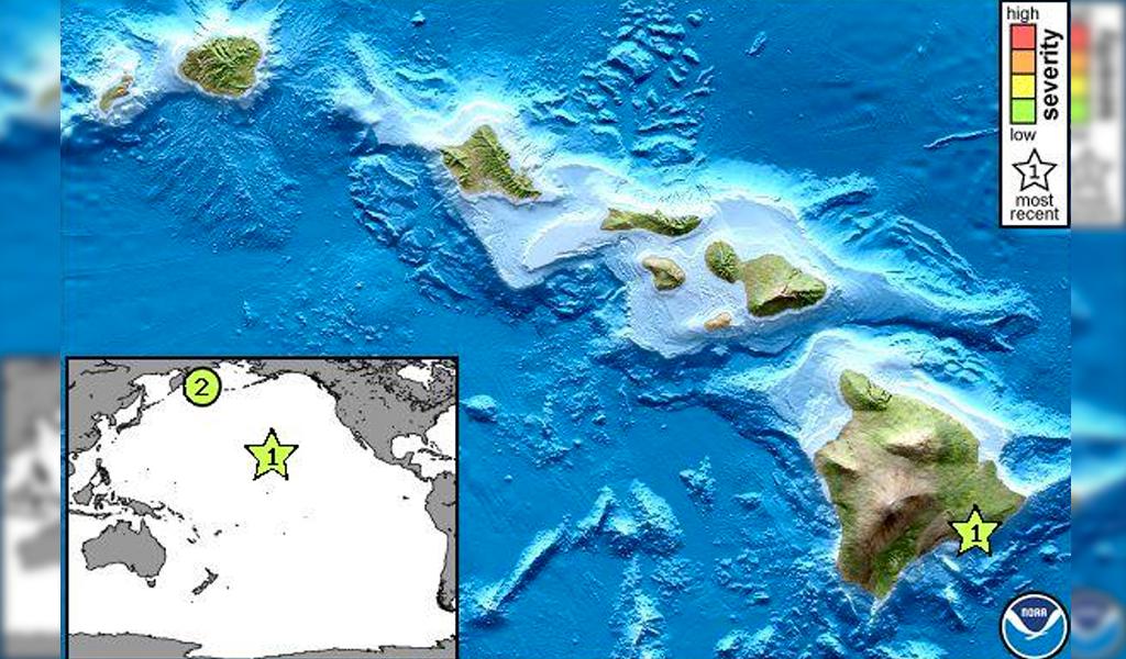 Hawái ante sismo de magnitud 5.3