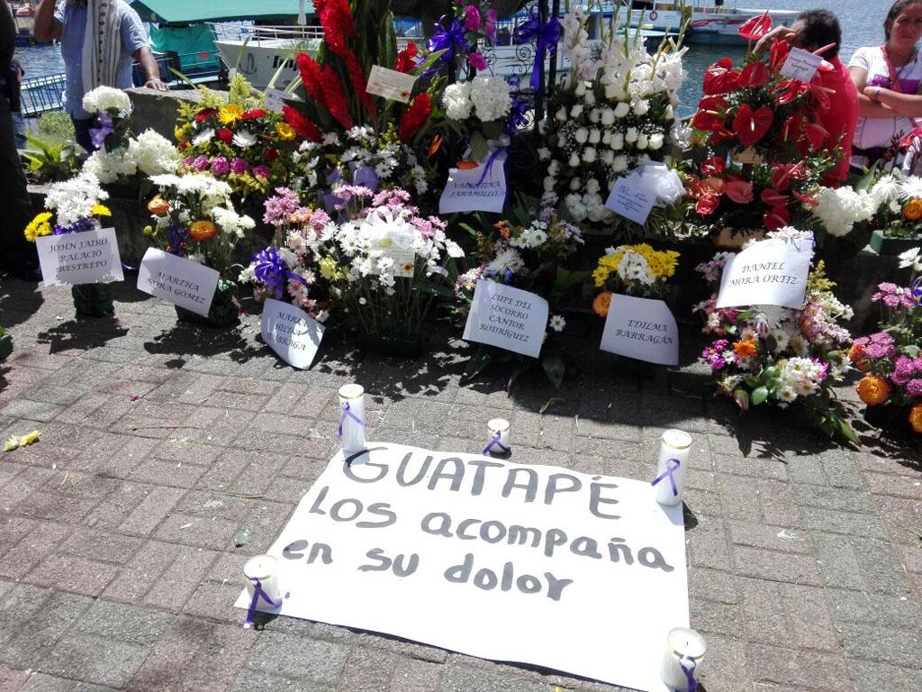Un día en Guatapé, tras la tragedia de El Almirante
