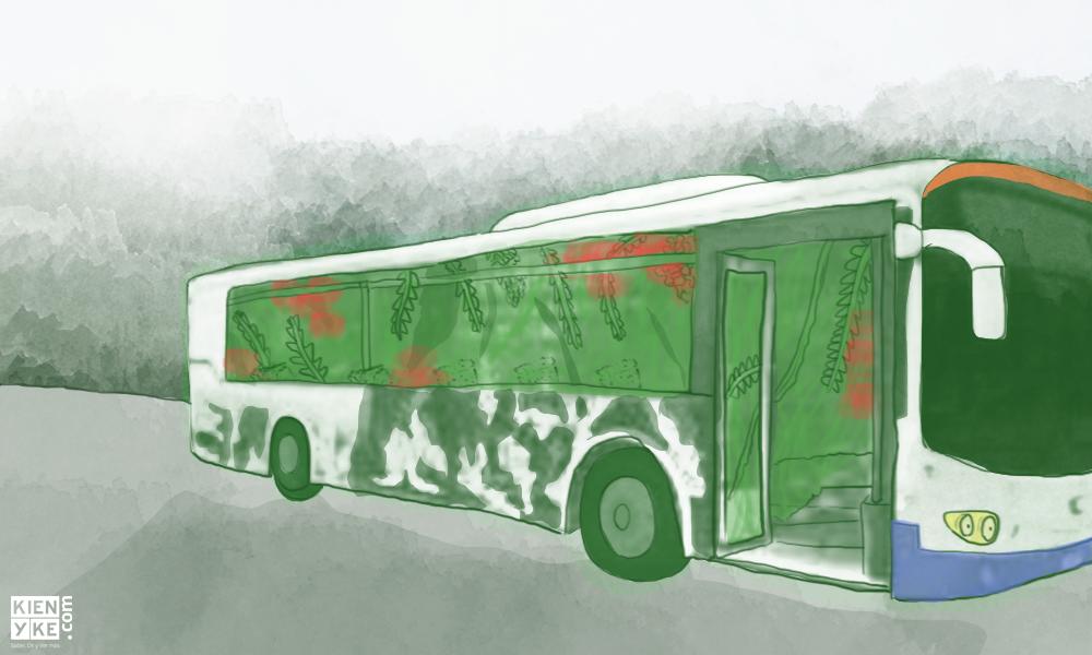 El autobús amigable con el medio ambiente