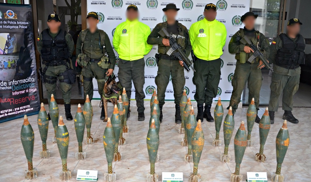Encuentran caleta con granadas de mortero en Antioquia