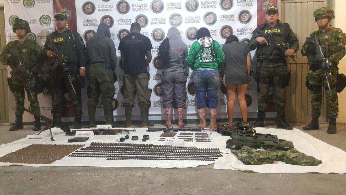 Capturan cinco presuntos disidentes de Farc en Nariño