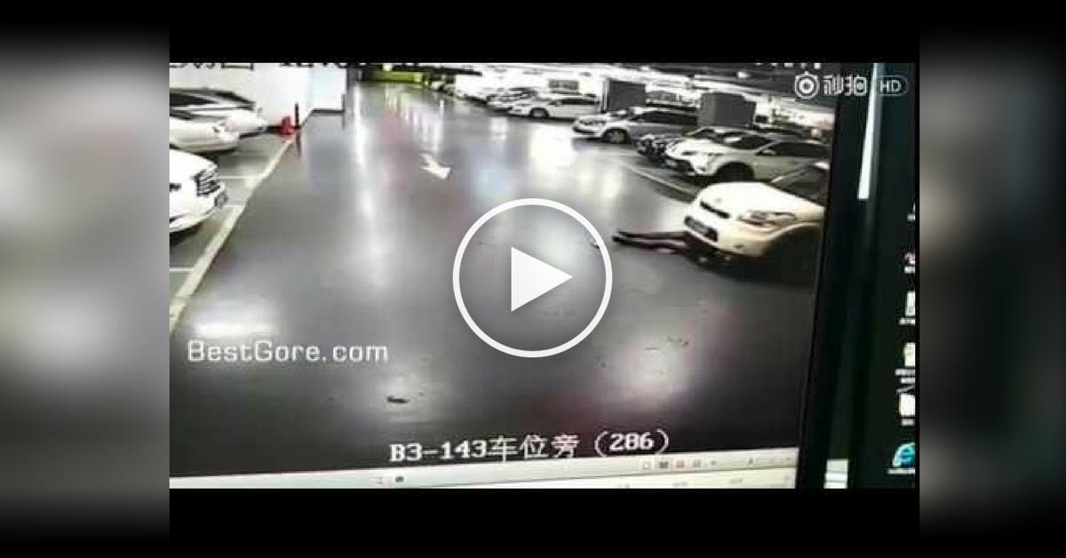 Atropellada por su propio auto