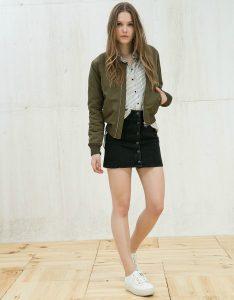 Pinterest falda con botones