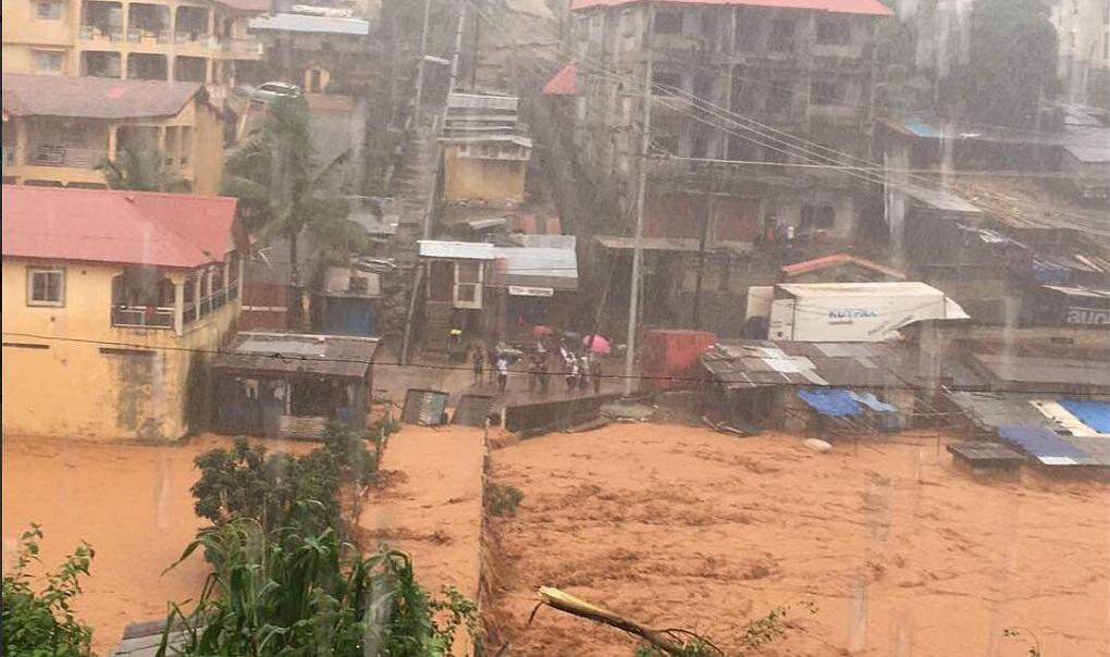 Inundaciones en Sierra Leona dejan 312 muertos