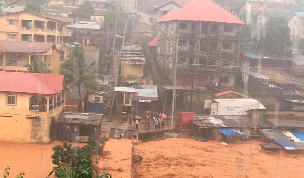 312 personas murieron por inundaciones en Sierra Leona