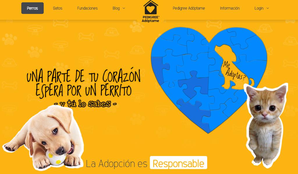 'Pedigree Adóptame' llega a Colombia