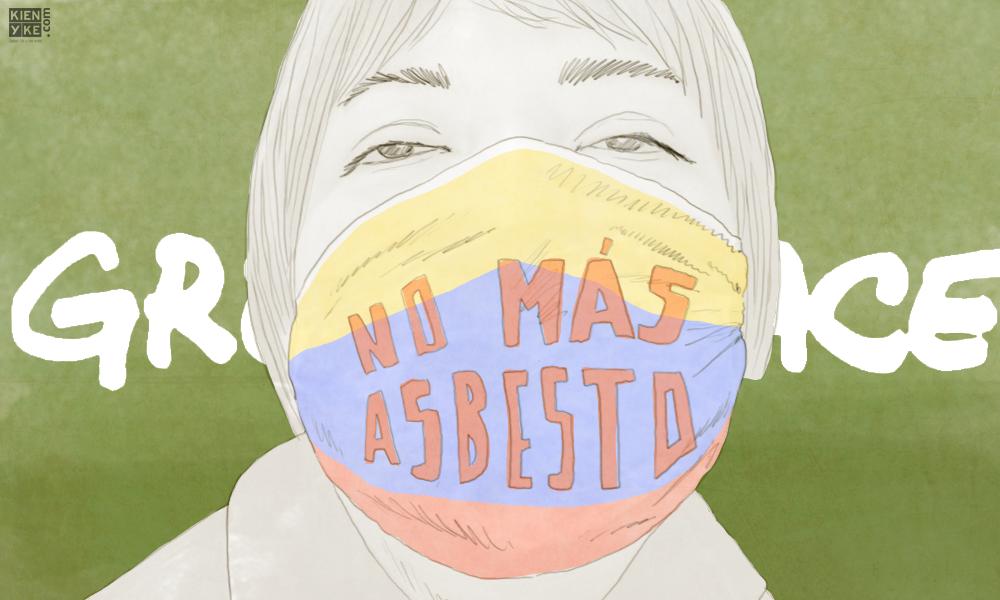 Campaña de Greenpeace para la prohibición del asbesto