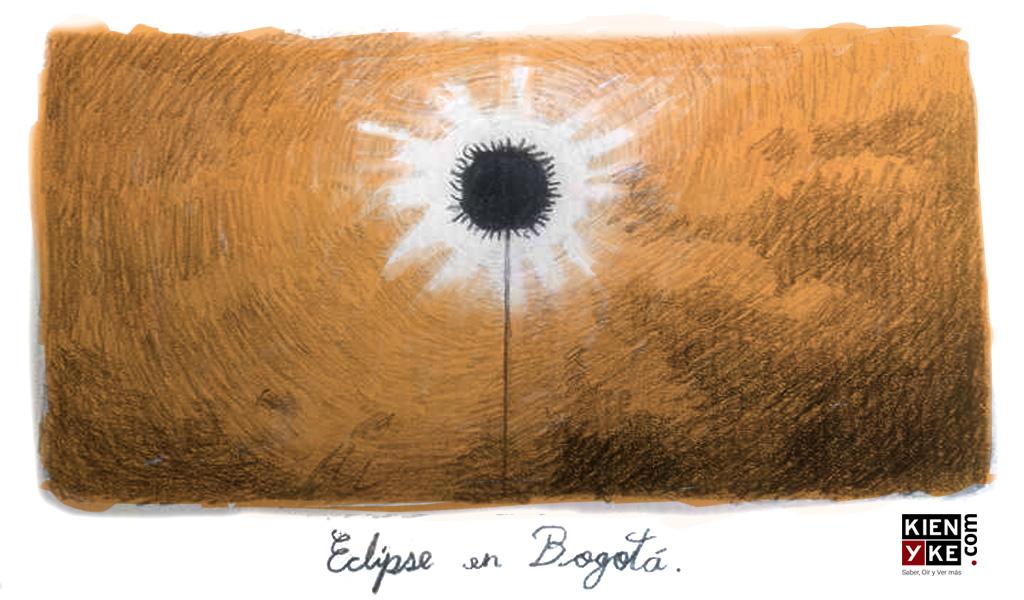 El eclipse solar en Bogotá