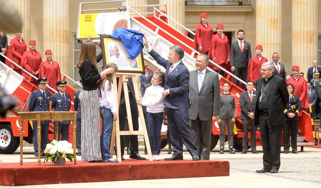 Foto: Presidencia/ Lanzamiento oficial de la visita del Papa a Colombia