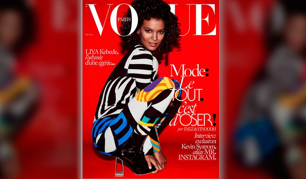 Liya Kebede es la primer modelo negra en Vogue Paris desde 2010.