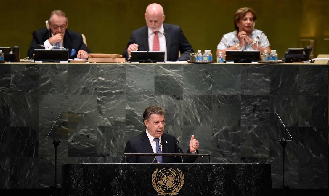 Presidente Santos ante la ONU