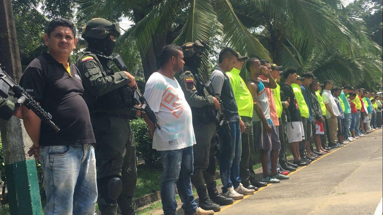 Desmantelan banda criminal en Antioquia