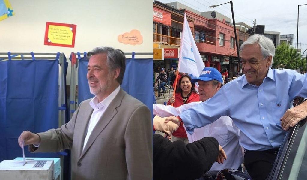 Guillier y Piñera, a segunda vuelta por presidencia de Chile