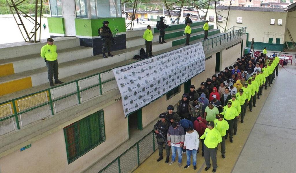 Gigantesco operativo en Medellín contra la extorsión