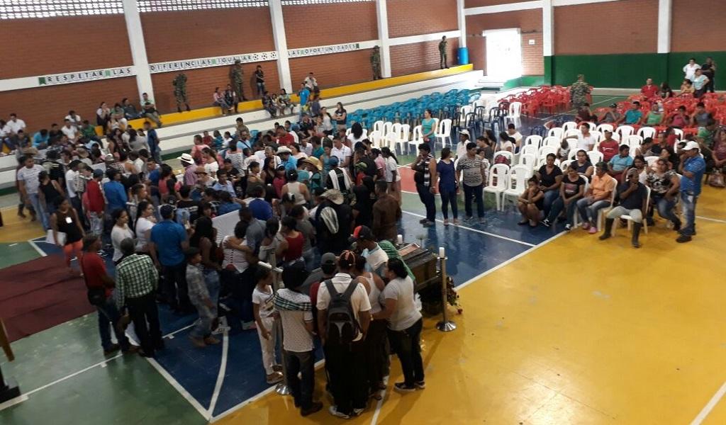 El último adiós a las víctimas de Sabanalarga