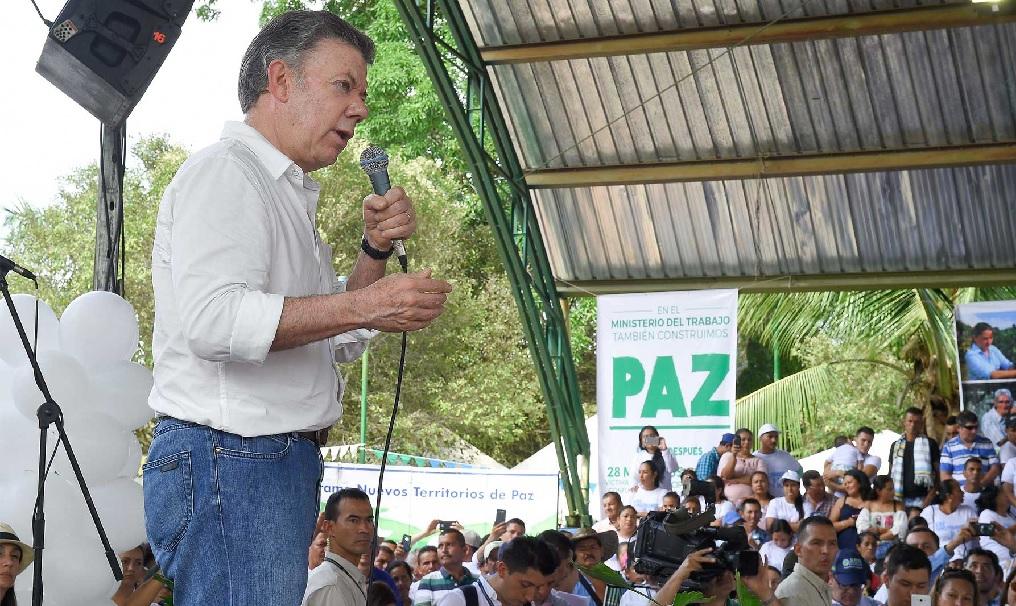 """""""La Paz sí está funcionando"""": Santos"""