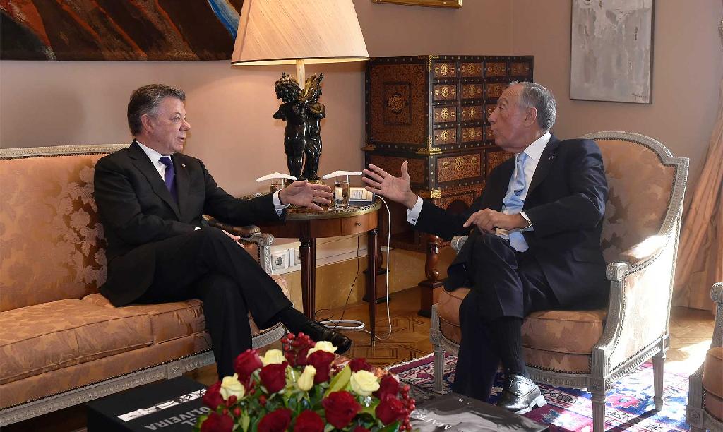 Juan Manuel Santos se reunió con presidente de Portugal