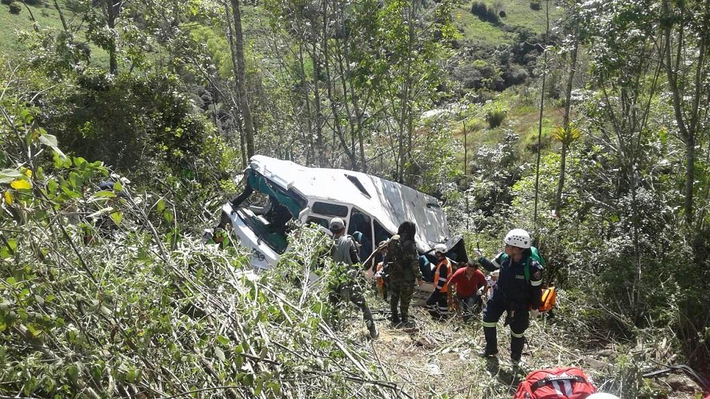 Accidente en la vía Villavicencio Bogotá
