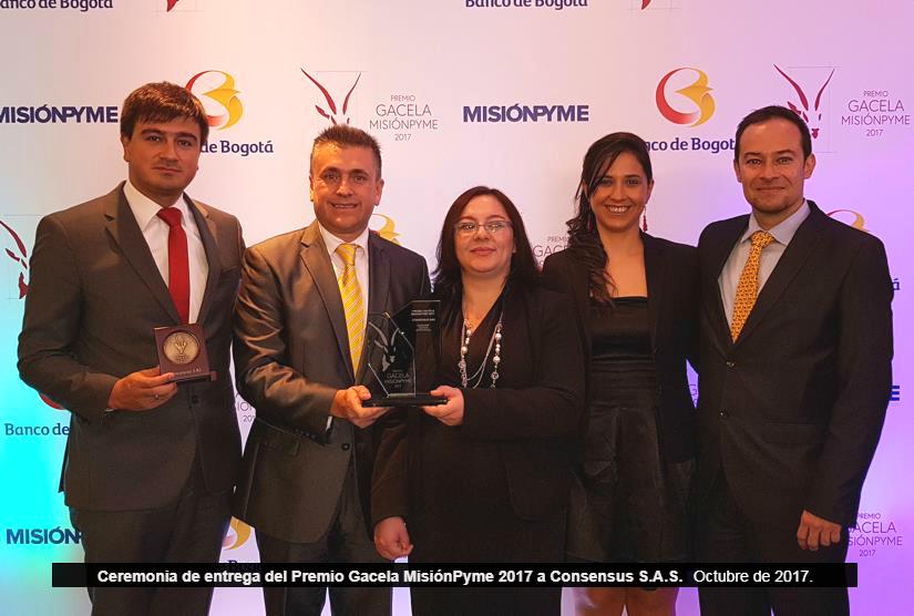 Consensus S.A.S recibe premio Gacela MisiónPyme 2017