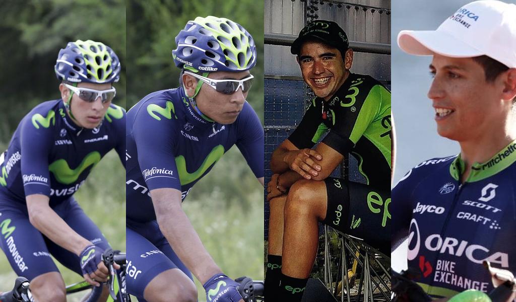 Familiares colombianos en el ciclismo internacional