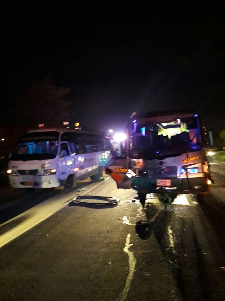 Grave accidente en la vía Bogotá – Villeta