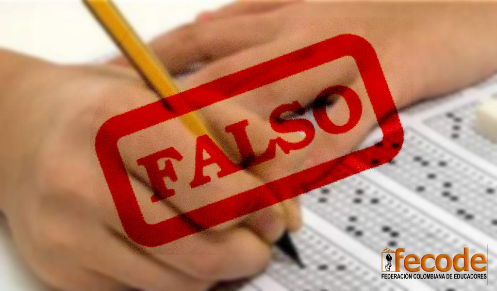 Fecode: Documento sobre Prueba Saber es falso
