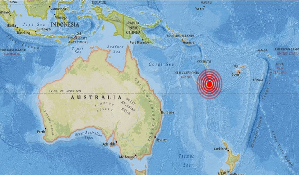 Reportan terremoto de 7.3 en Nueva Caledonia