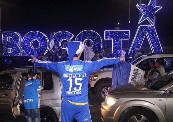 Bogotá vivió el fútbol en paz