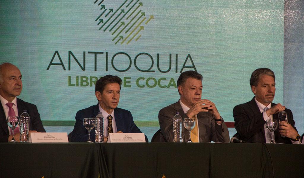 La cuota inicial para erradicar la coca en Antioquia