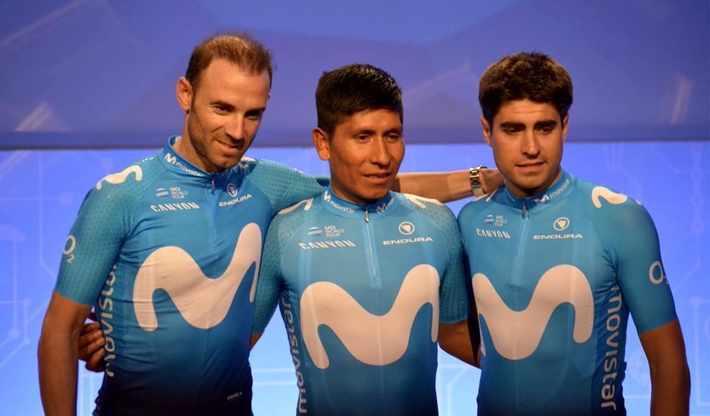 Nairo Quintana, Alejandro Valverde, Mikel Landa Movistar