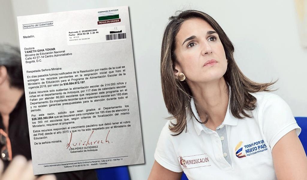 Luis Pérez reclama a MinEducación recursos del PAE
