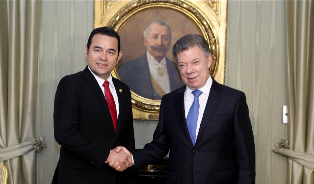 visita de Guatemala a Colombia
