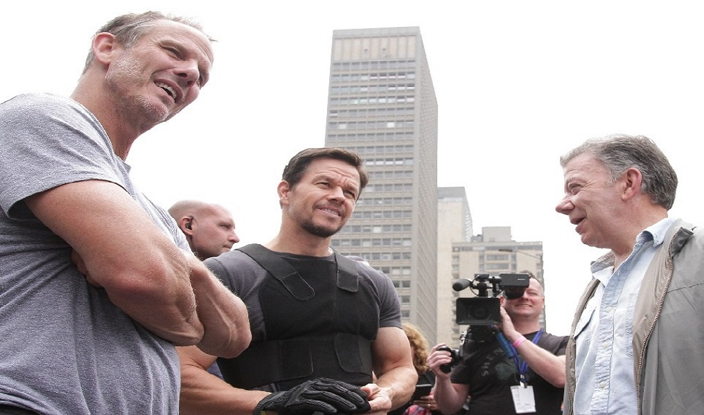 Santos compartió con actor de Hollywood en Bogotá