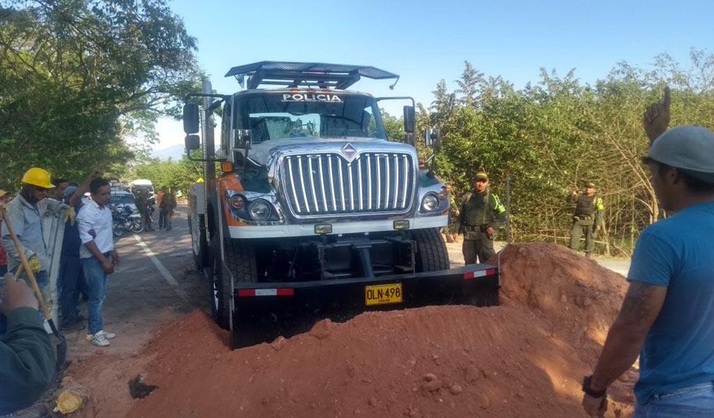 Paso habilitado para vehículos pequeños en el Puente de Simaña