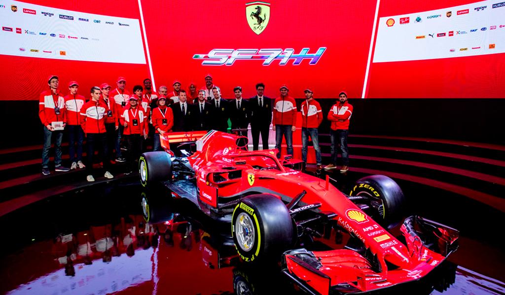 Ferrari presenta su nuevo carro para F1