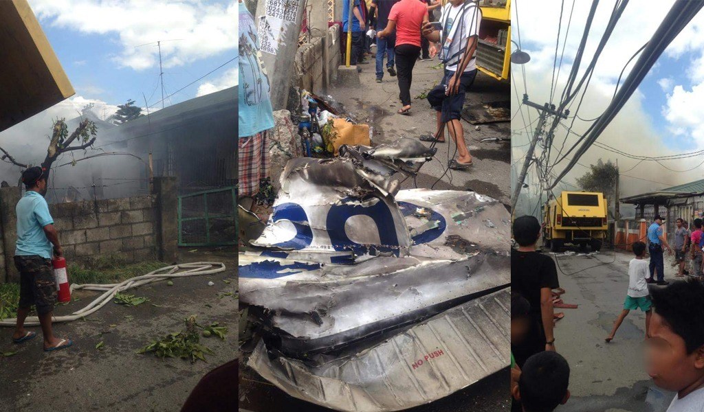 Accidente aéreo deja diez personas fallecidas en Filipinas
