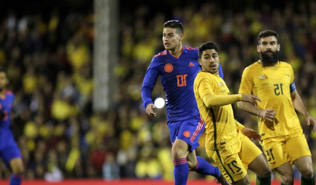 Selección Colombia James Australia