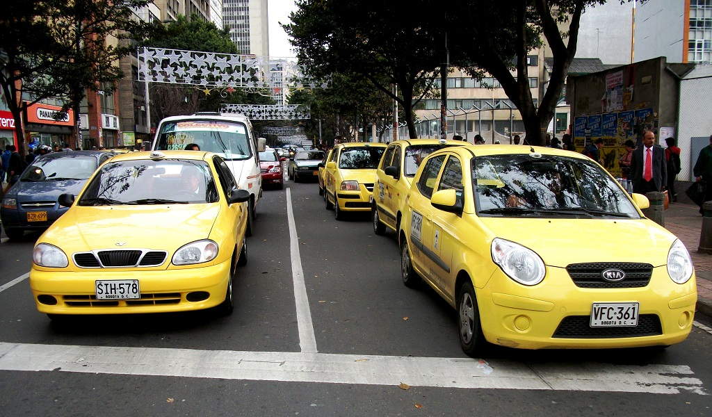 aplicación para taxis en Bogotá