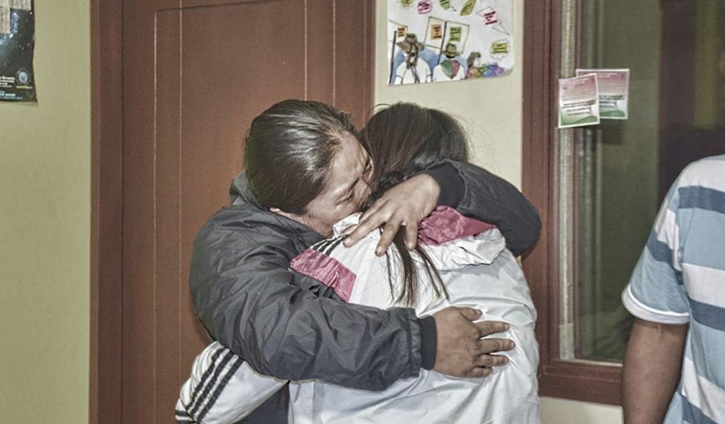 menores indígenas rescatadas en Cauca