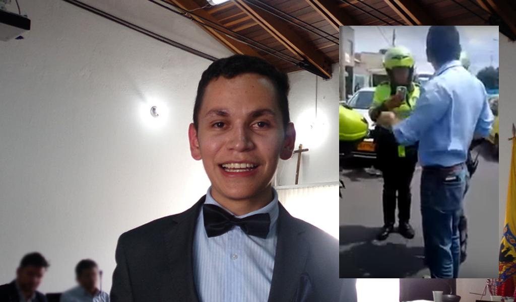 Agresor de policía de Tránsito en Bogotá debe varias multas