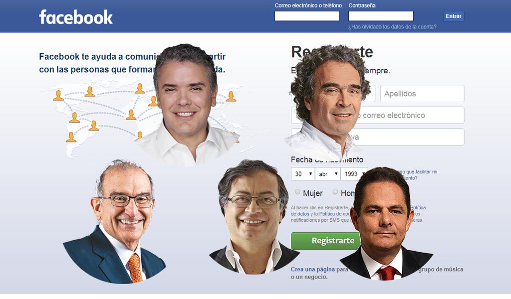 Facebook al día con las elecciones en Colombia