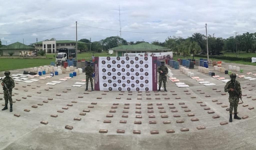 Incautan 250 kilos de coca en Putumayo