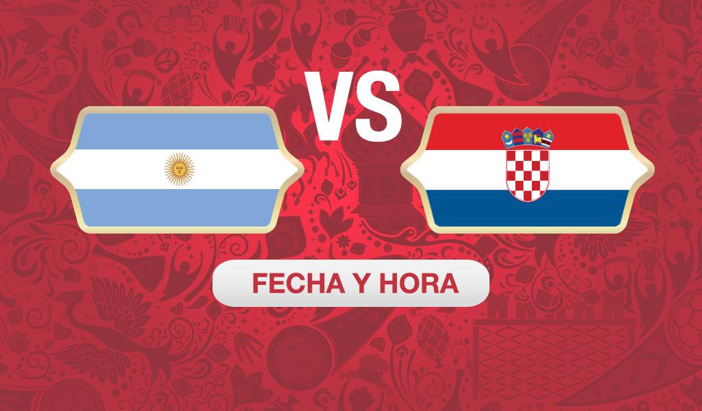¿A qué hora juega Argentina vs Croacia?