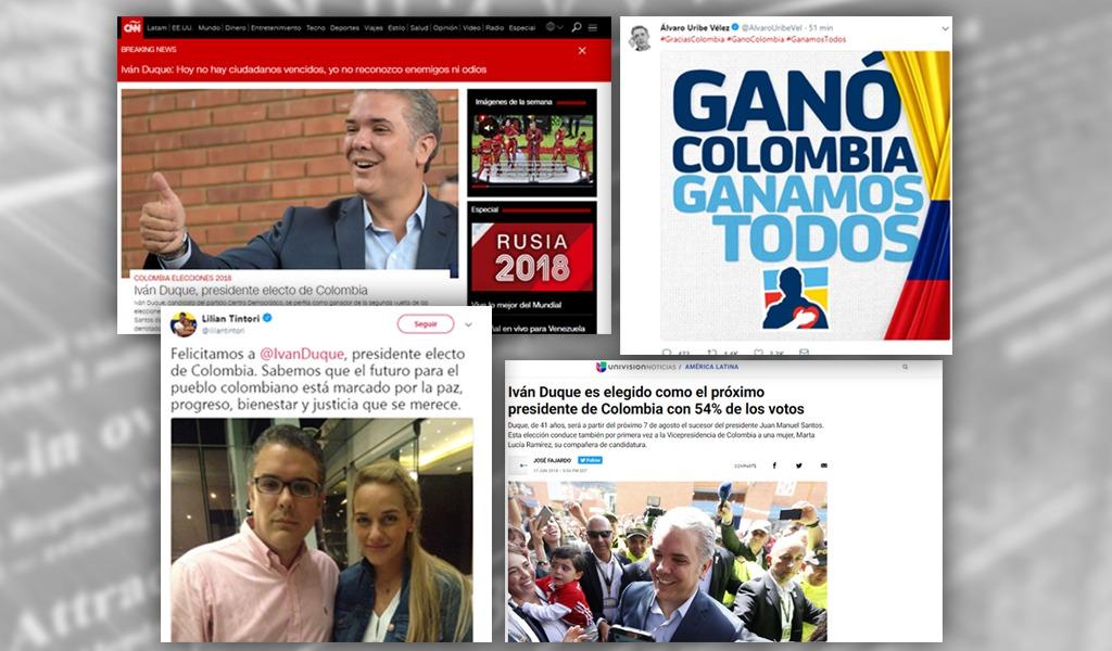 Así reaccionaron en el extranjero a elecciones en Colombia