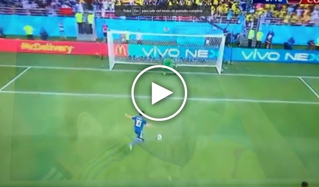 Vea el penal que pitaron en contra de Colombia