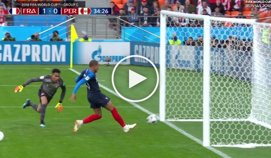 Reviva el golazo de Mbappé con Francia ante Perú