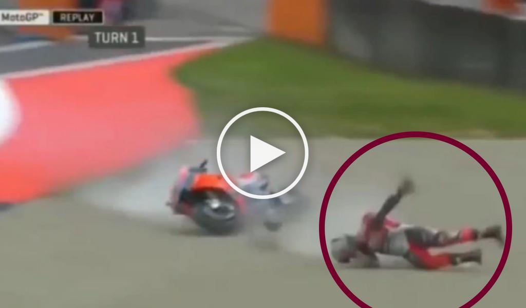 Viral: grave accidente en el Premio de Italia de MotoGP