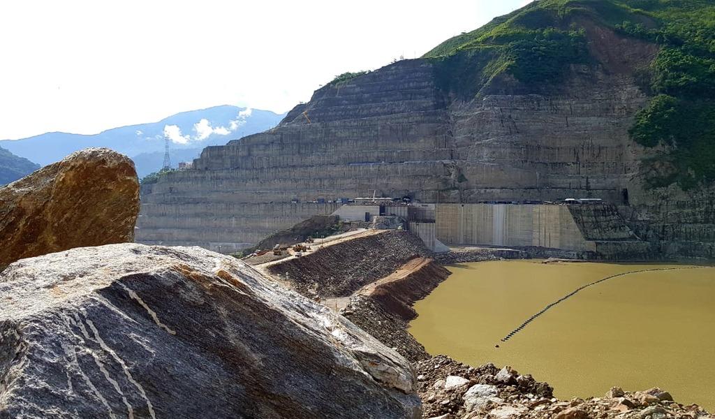 EPM llega a la cota 415 en la presa de Hidroituango
