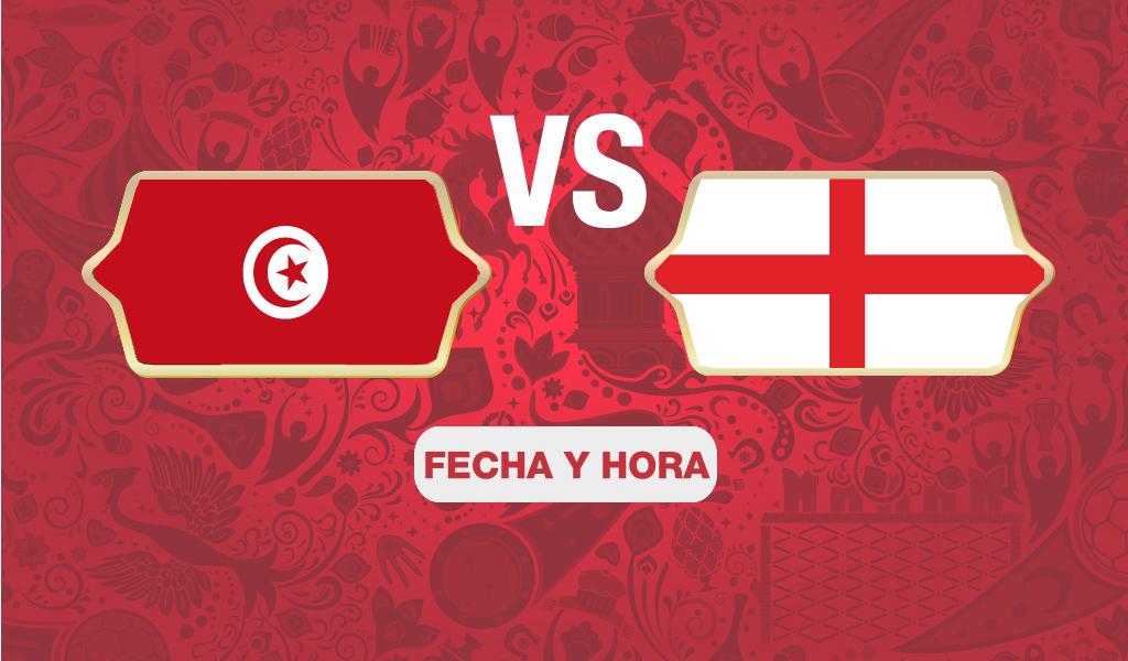 ¿A qué hora juega Inglaterra vs Túnez?