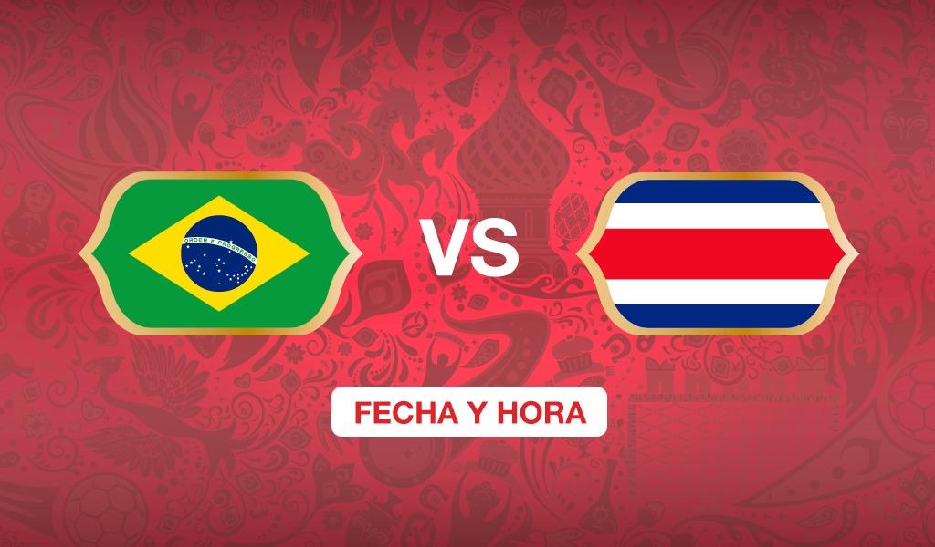 ¿A qué hora juega Brasil vs Costa Rica?